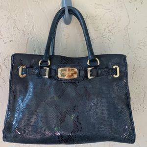 Michael Kors Hamilton snakeskin purse satchel